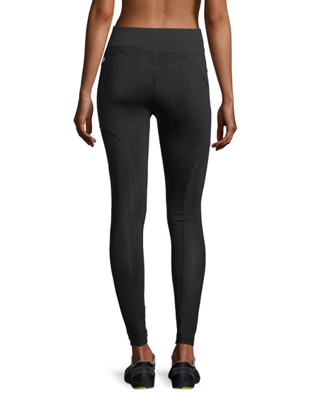 Moto Mesh Panels Full-Length Performance Leggings
