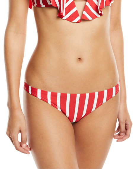 St. Lucia Striped Bikini Swim Bikini Bottom