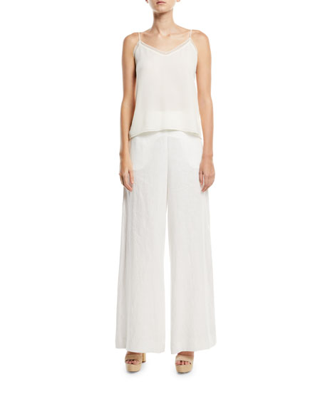 Lovelorn High-Waist Wide-Leg Linen Trousers