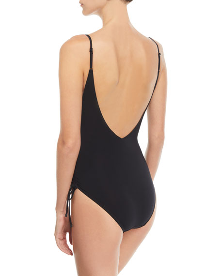 Prima Plunging Ruched One-Piece Swimsuit