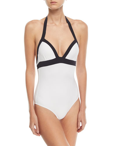 Ana Halter Push-Up One-Piece Swimsuit