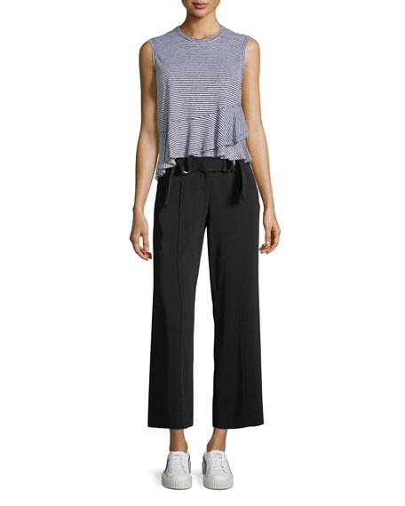 Heri Wide-Leg Crepe Pants