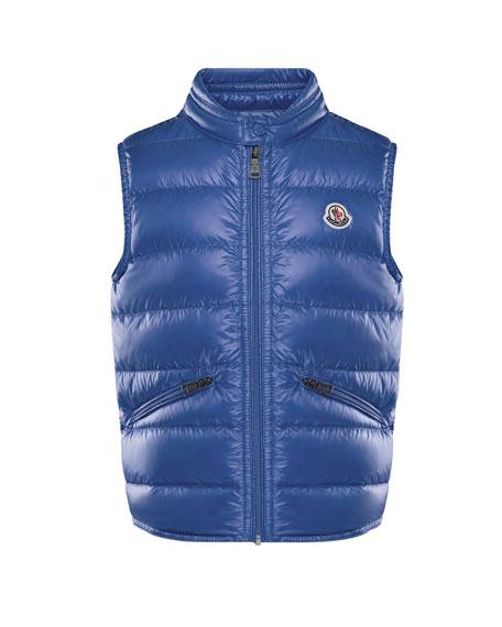 Gui Down Puffer Vest, Blue, Size 8-14