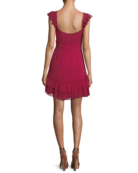 Frankie Sweetheart-Neck Sleeveless A-Line Dress