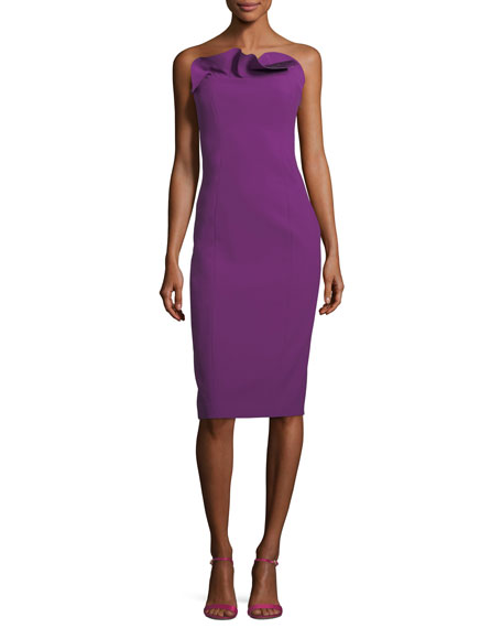 Jolie Marceau Strapless Fitted Cocktail Dress
