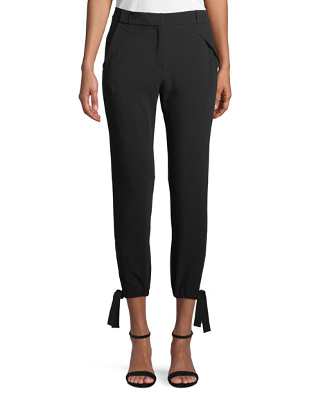 Slim-Fit Ankle-Tie Pants