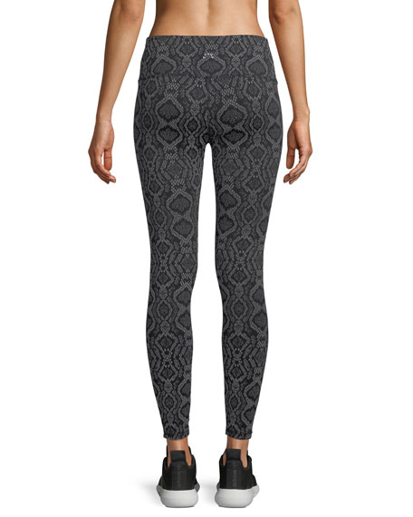 Bronson Snake-Print 7/8 Performance Tights