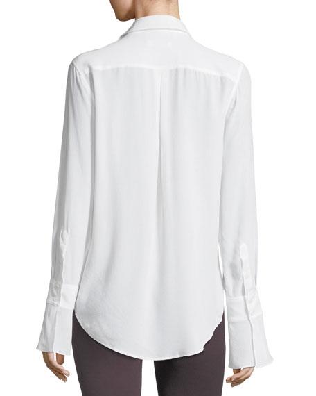 Daphne Button-Down Silk Shirt