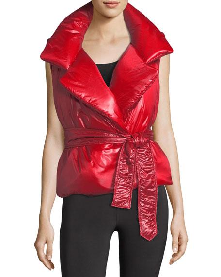 Sleeveless Belted Sleeping Bag Vest