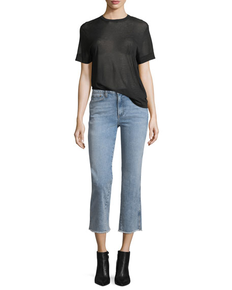Perfect Cropped Kick-Flare Jeans