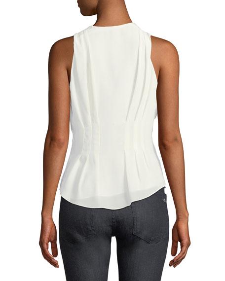 Eulalia V-Neck Sleeveless Silk Top