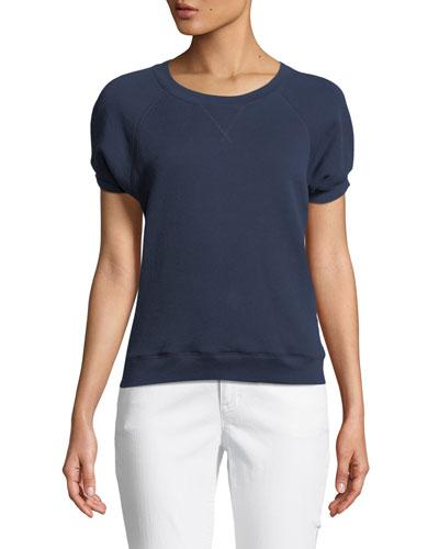 Christal One-Shoulder Striped Cotton Top