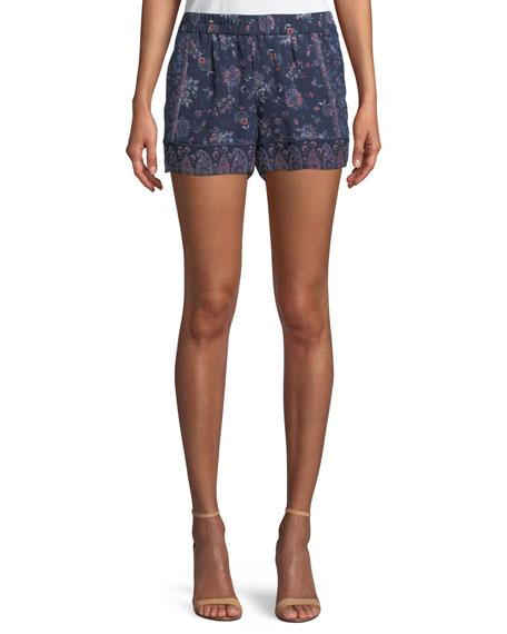 Ciri Paisley Silk Shorts