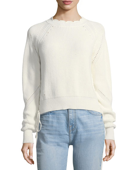 Adanya Lace-Up Sides Knit Sweater