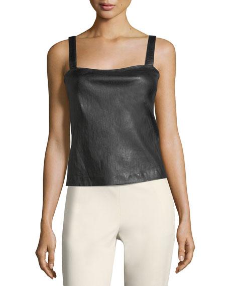 Square-Neck Bristol Leather Perfect Camisole