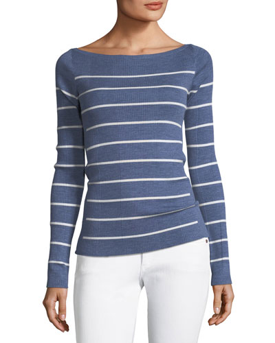 Long-Sleeve Merino Wool Sweater