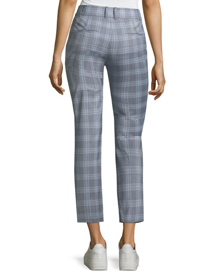 Maple-Check 2 Straight-Leg Ankle Trousers