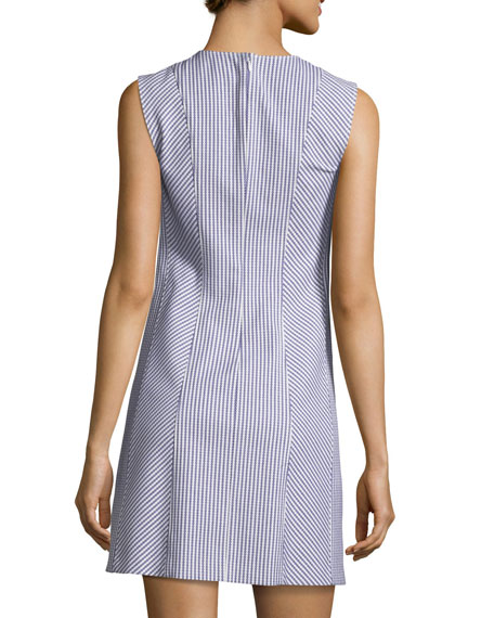 Helaina Sayre Striped A-Line Mini Dress