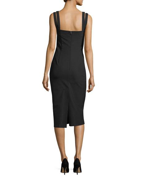 Perfect Sheath Sleeveless Midi Dress
