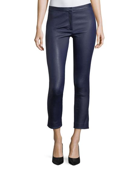 Classic Skinny-Leg Bristol Leather Pants