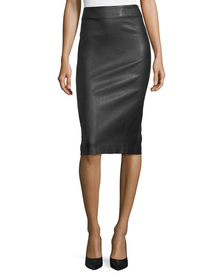 Bristol Leather Skinny Pencil Skirt