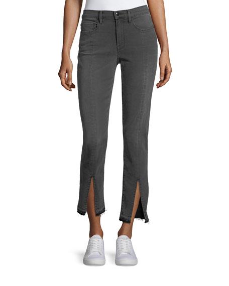 FRAME Le Nouveau Straight-Leg Split-Front Jeans