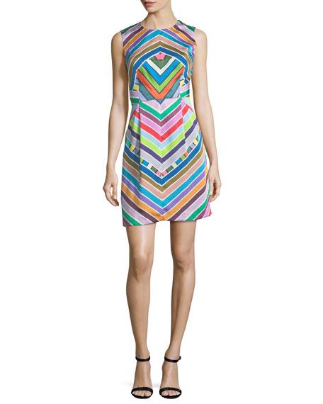 Coco Rainbow Striped Twill Dress