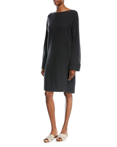 Wool-Cashmere Twisted Seam Dress