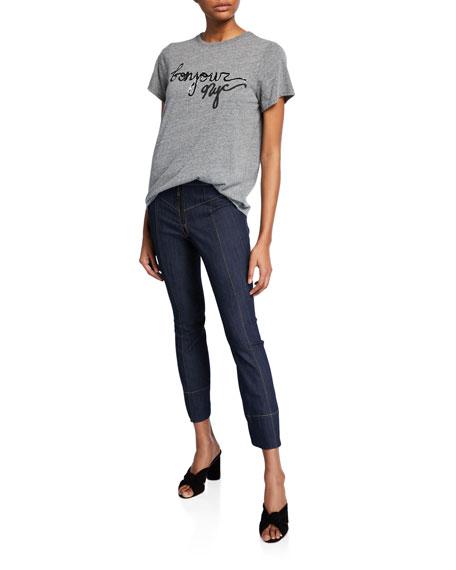 Tous Les Jours Kirim Mid-Rise Straight-Leg Ankle Denim Pants