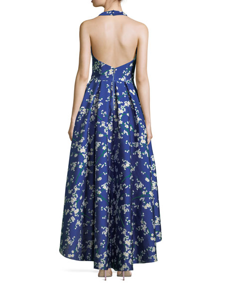 Harper Sweetheart Floral-Print High Low Evening Ball Gown