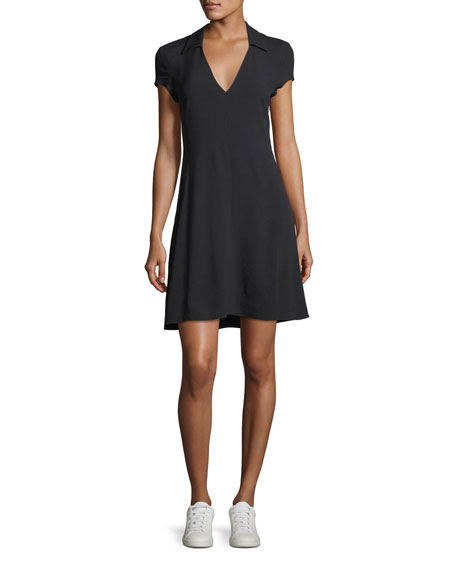 V-Neck Rosina Crepe Easy Day Dress