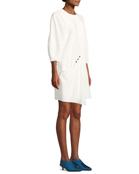 Washed Viscose Short Dress