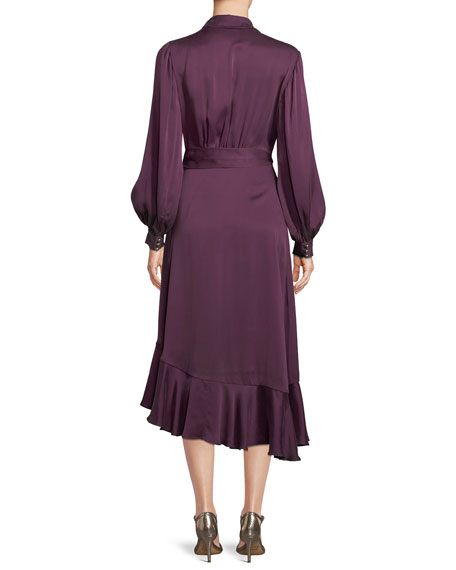 Silk Satin Wrap Dress