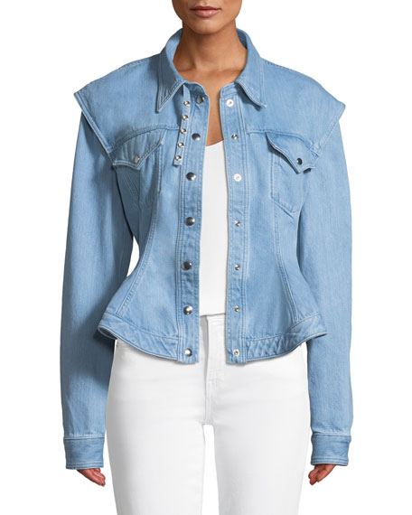Denim Jacket with Detachable Sleeves