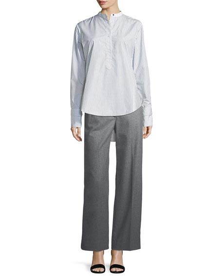 Crane Wool-Blend Wide-Leg Pants