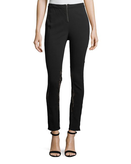 The Thorny Rose Skinny Pants with Lace Inserts