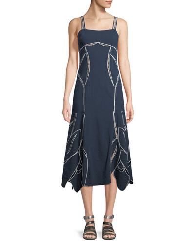 Black blue and orange tanya taylor dress