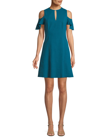 Raylan Cold-Shoulder Mini Dress