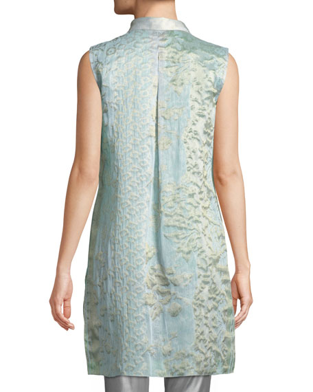 Clark Floral-Embroidered Blouse