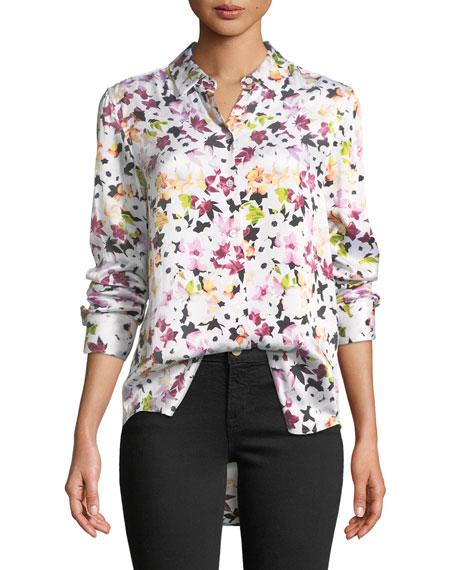Essential Button-Down Tiny Floral-Print Shirt