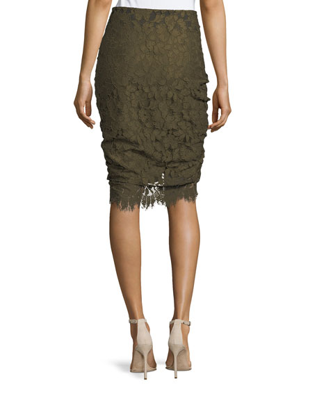 Noche Faux-Wrap Pencil Skirt