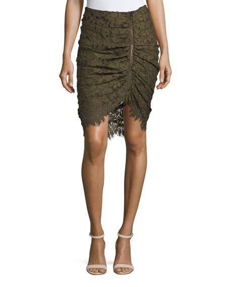 Noche Faux-Wrap Pencil Skirt