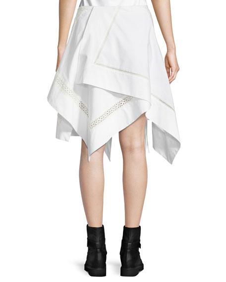 Embroidered Handkerchief Skirt