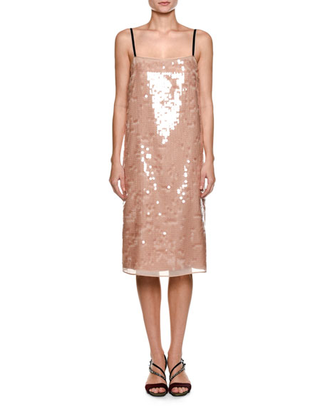 Image 1 of 1: Cipria Sleeveless Sequin Cocktail Dress