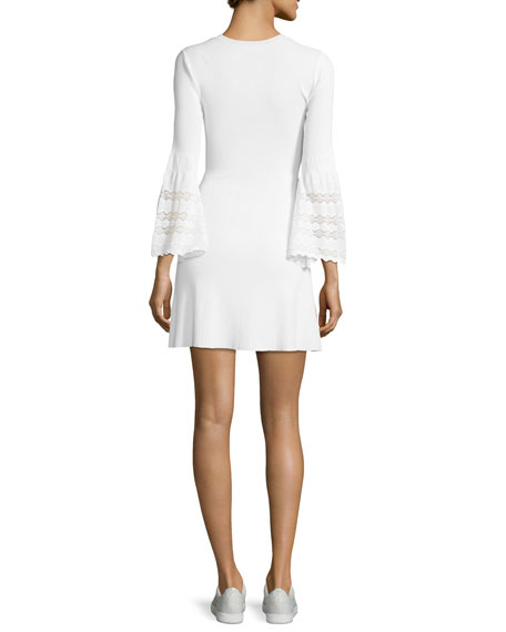 Malindi Crewneck Fit-and-Flare Knit Dress