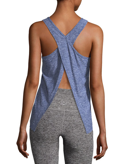 Scoop-Neck Lightweight Cross-Back Performance Tank