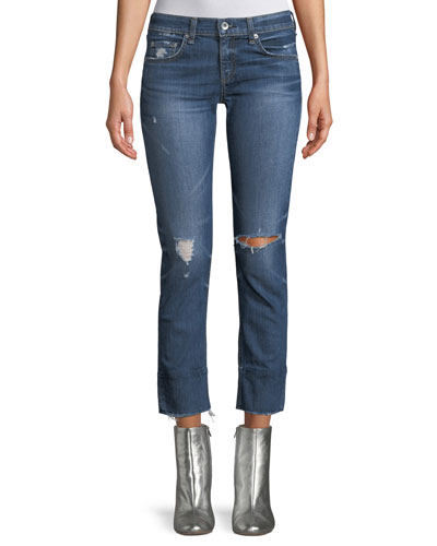 Dre Distressed Straight-Leg Jeans