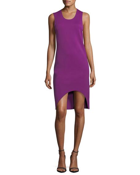 Scoop-Neck Sleeveless Asymmetric Tank Dress