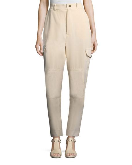 Vertical Stripe Four-Pocket Cargo Pants