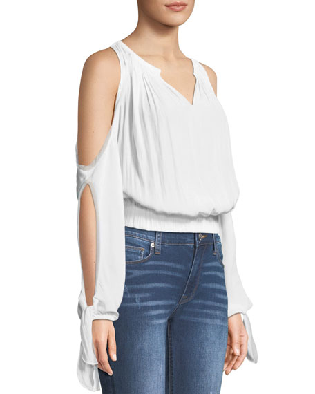 Natalia V-Neck Tie-Cuffs Top